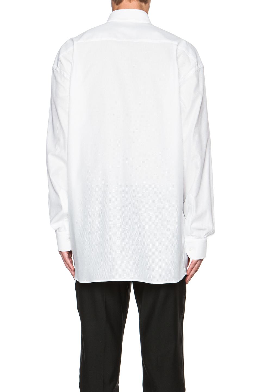 Lyst alexander mcqueen men 39 s long button down shirt in white for Alexander mcqueen shirt men