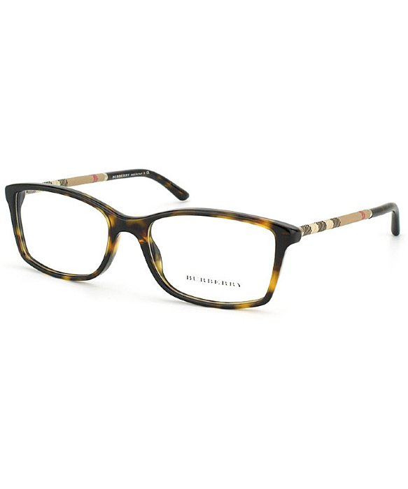 0ca54e597978 Lyst - Burberry Be2120 3002 Dark Havana Rectangle Eyeglasses in Brown