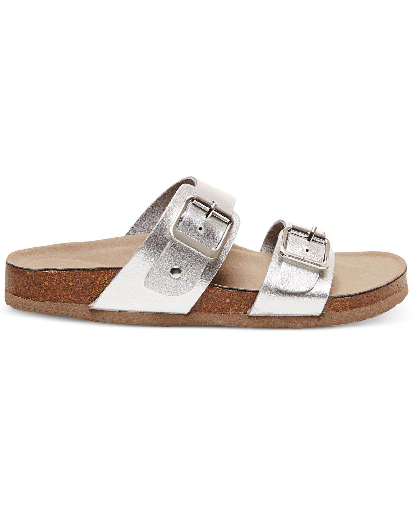 bcef984a093 Madden Girl Metallic Brando Footbed Sandals