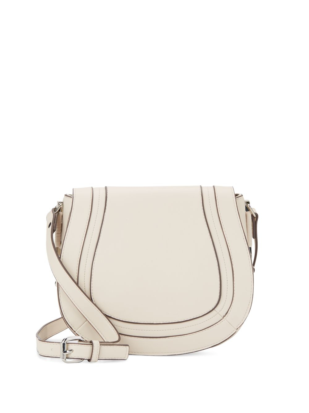 c91c60dab French Connection Liza Faux Leather Crossbody Saddle Bag in White - Lyst