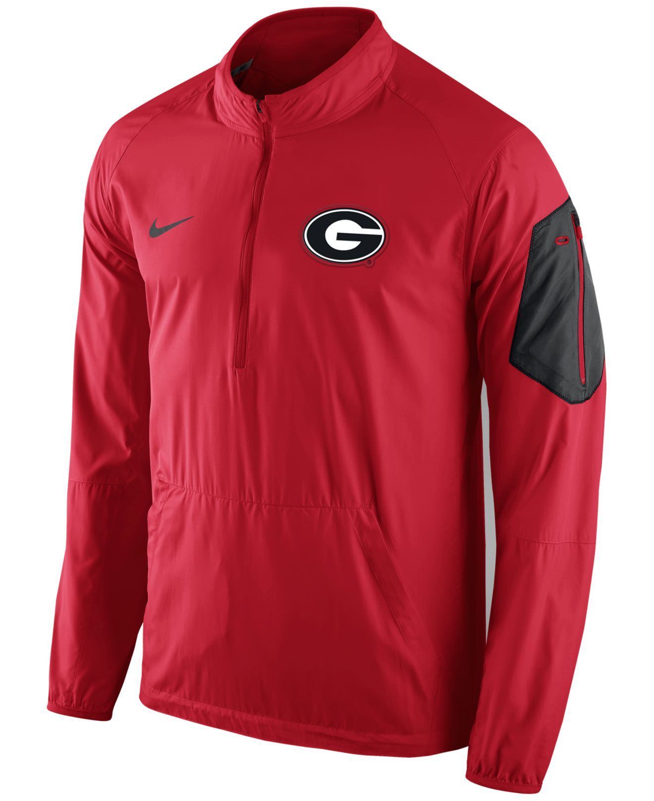 Nike Men 39 S Georgia Bulldogs Lockdown Half Zip Jacket In
