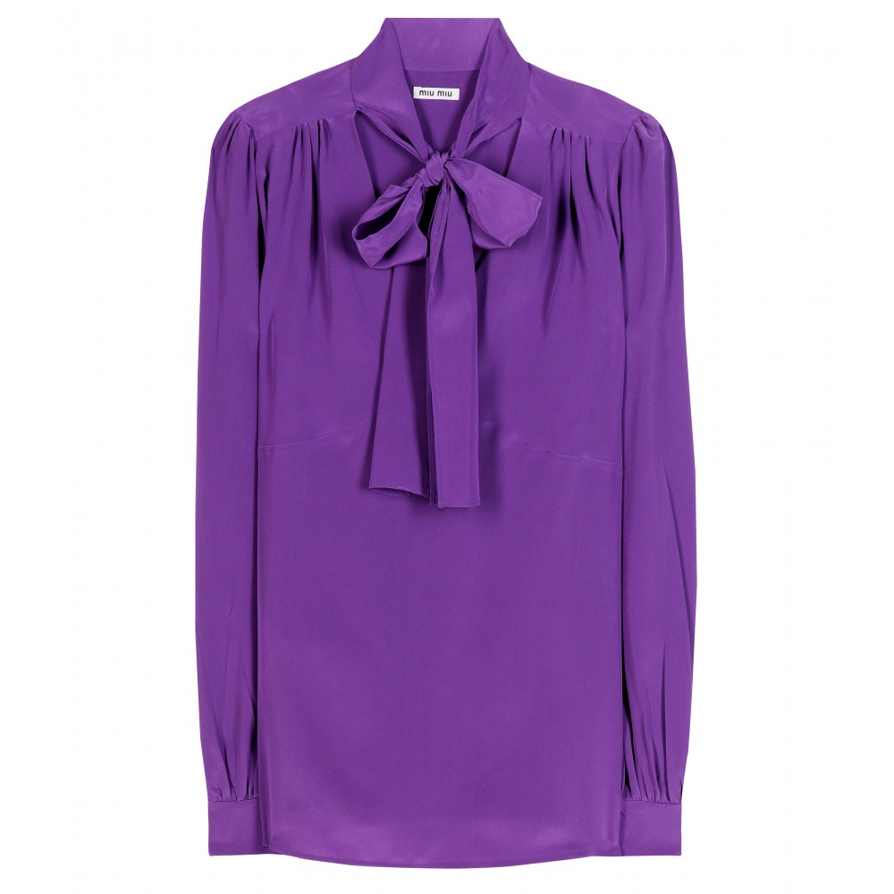 Silk shirt Miu Miu Cheap And Nice Clearance Cheapest Discount Low Price Fee Shipping Fashionable I0eBsKX