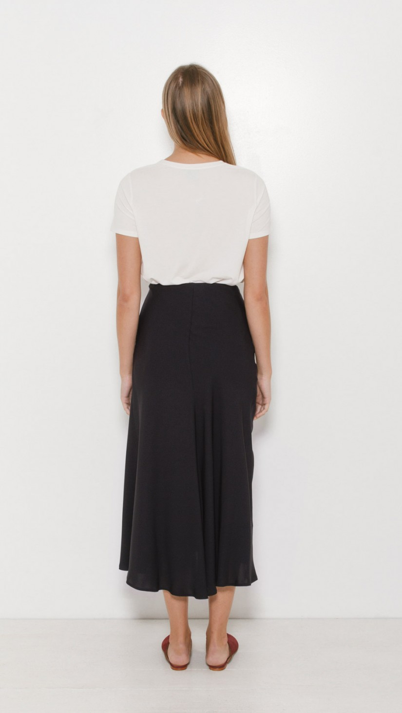 theory maity silk skirt in blue lyst