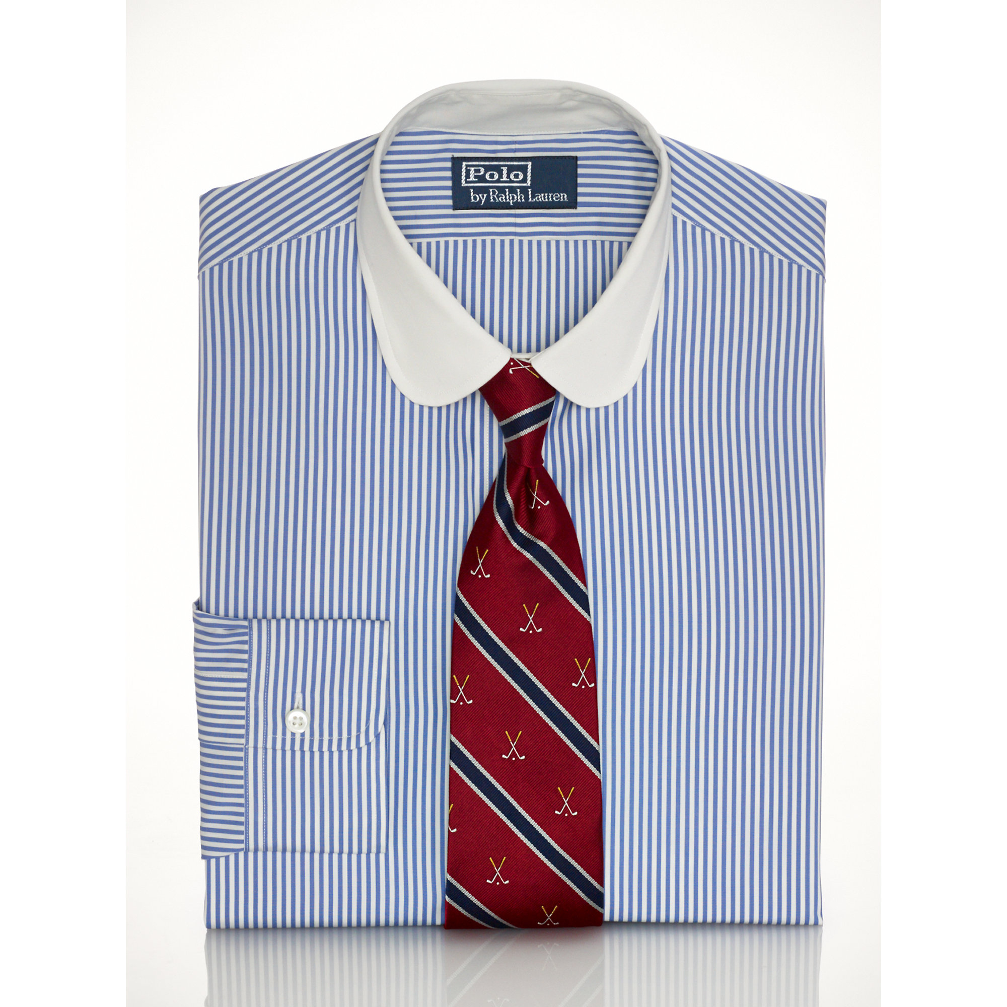 Lyst Polo Ralph Lauren Slim Club Collar Dress Shirt In