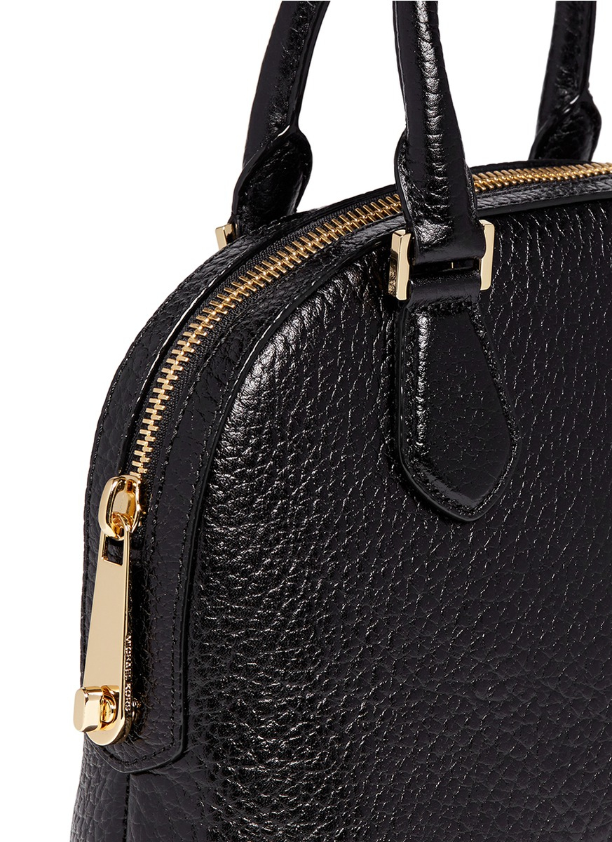 Lyst Michael Kors Smythe Medium Pebbled Leather Satchel