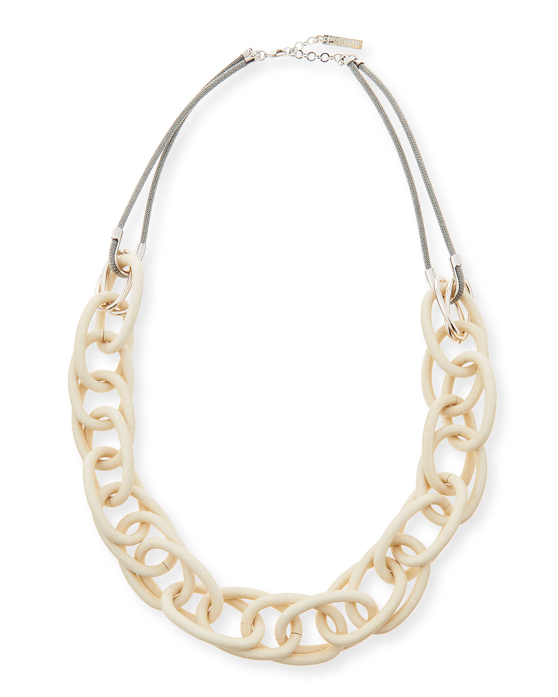 lafayette 148 new york long twisted link necklace in gold. Black Bedroom Furniture Sets. Home Design Ideas