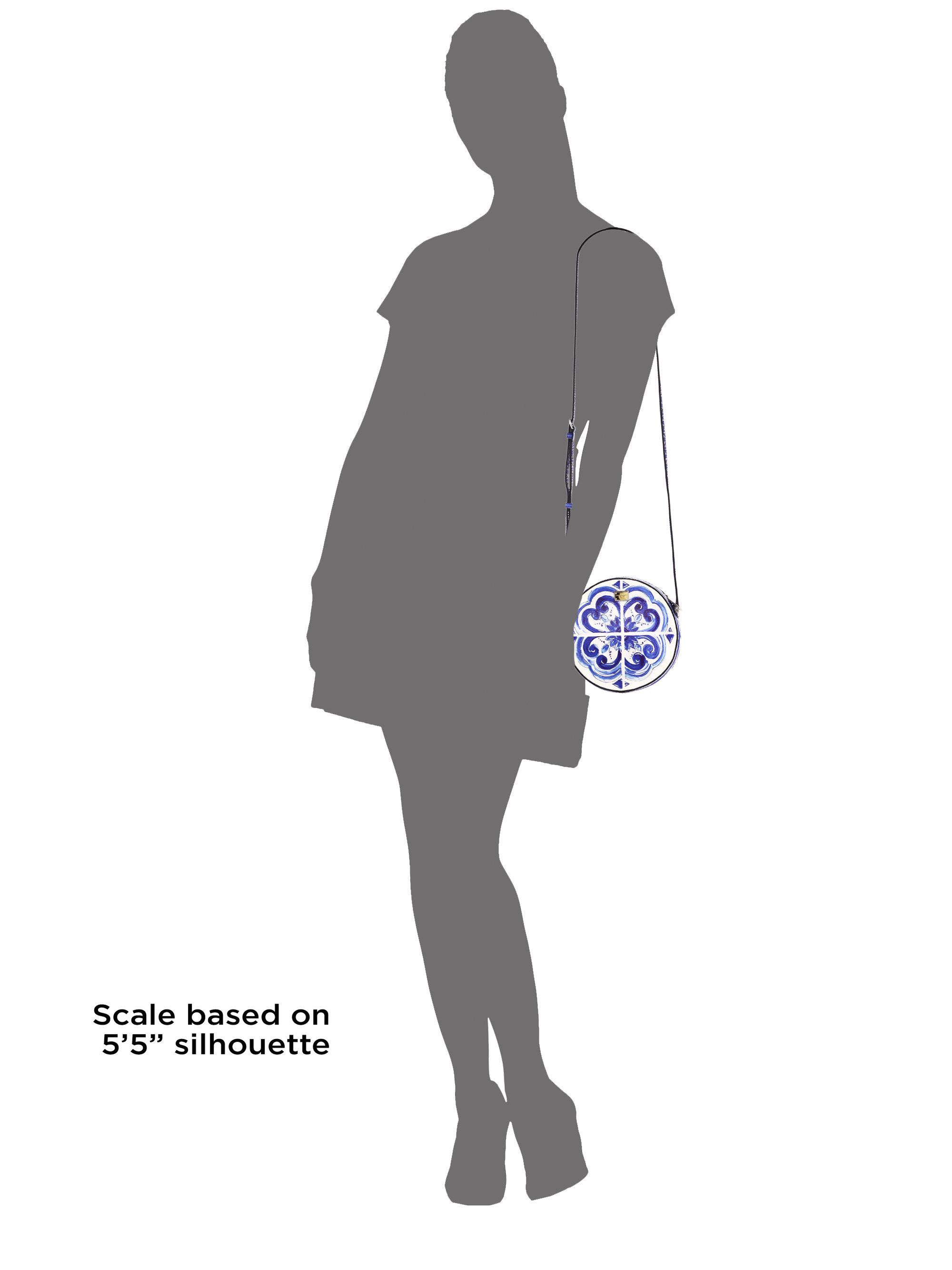 d73475780c07 Lyst - Dolce   Gabbana Glam Italian Tile Textured Leather Crossbody ...