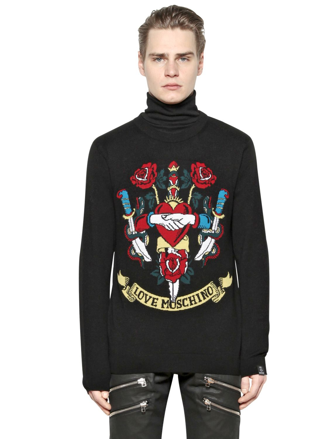 love moschino sweaters. Black Bedroom Furniture Sets. Home Design Ideas