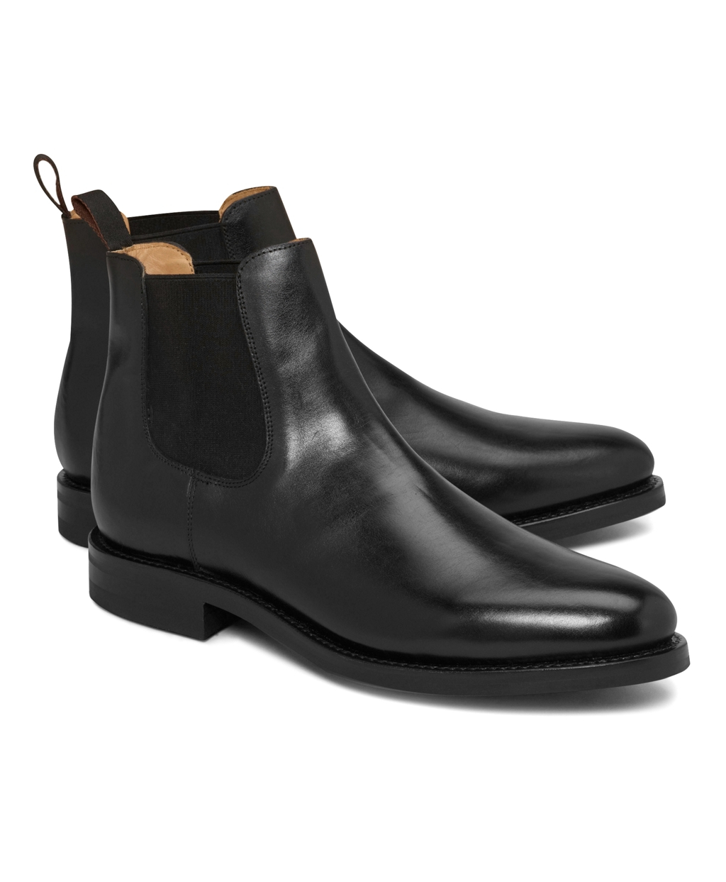 Brooks Brothers Leather Ankle Boots In Black For Men Lyst