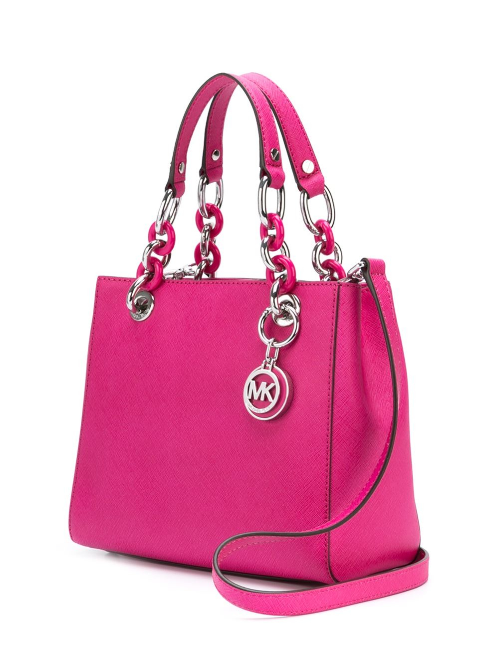 michael michael kors small 39 cynthia 39 tote in pink lyst. Black Bedroom Furniture Sets. Home Design Ideas