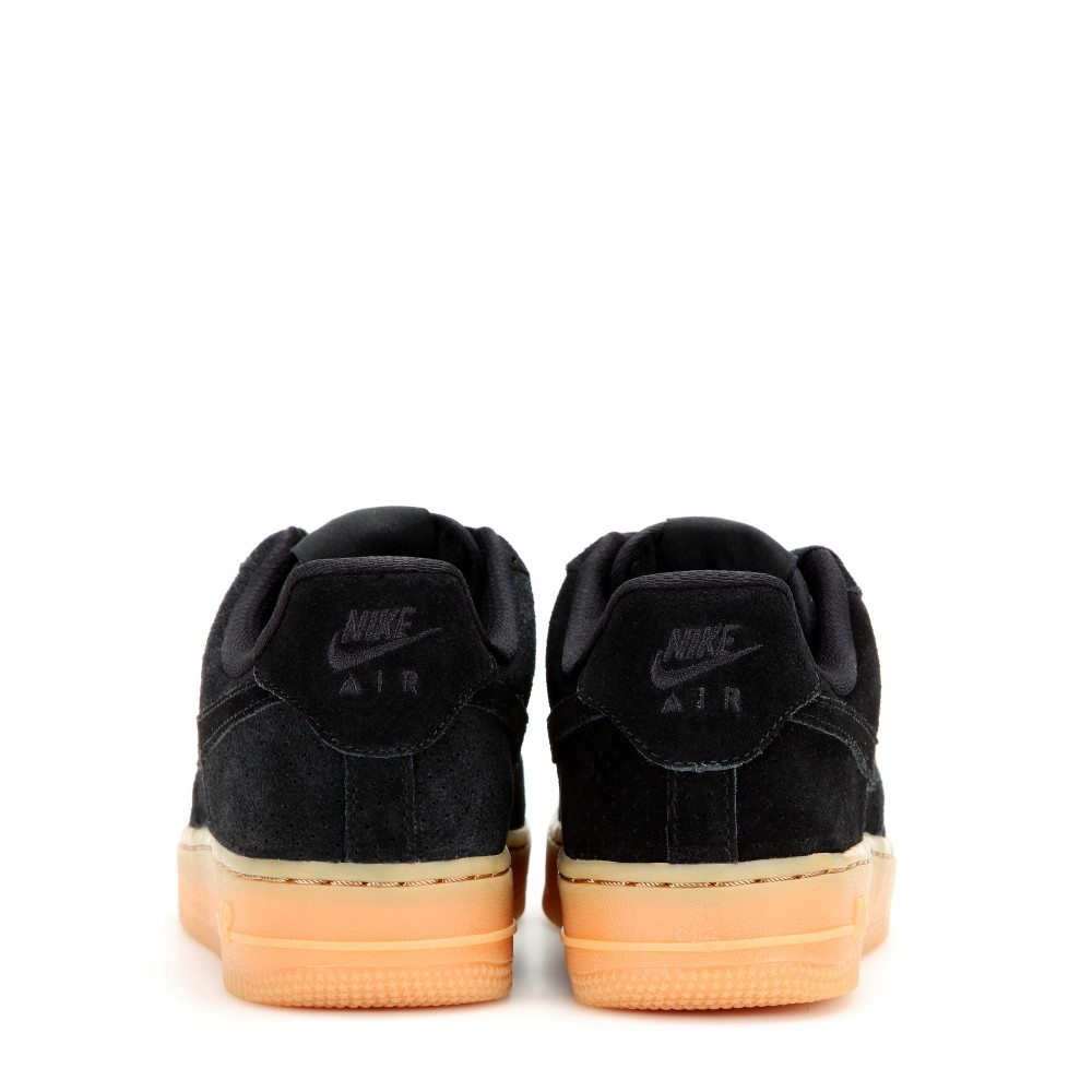 revendeur 1a005 0402a Nike Air Force 1 Suede Sneakers in Black - Lyst