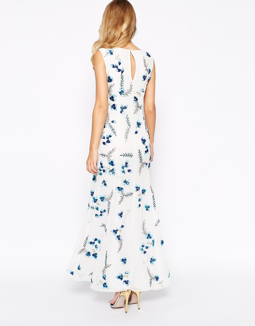 Frock and frill all over floral embroidered embellished