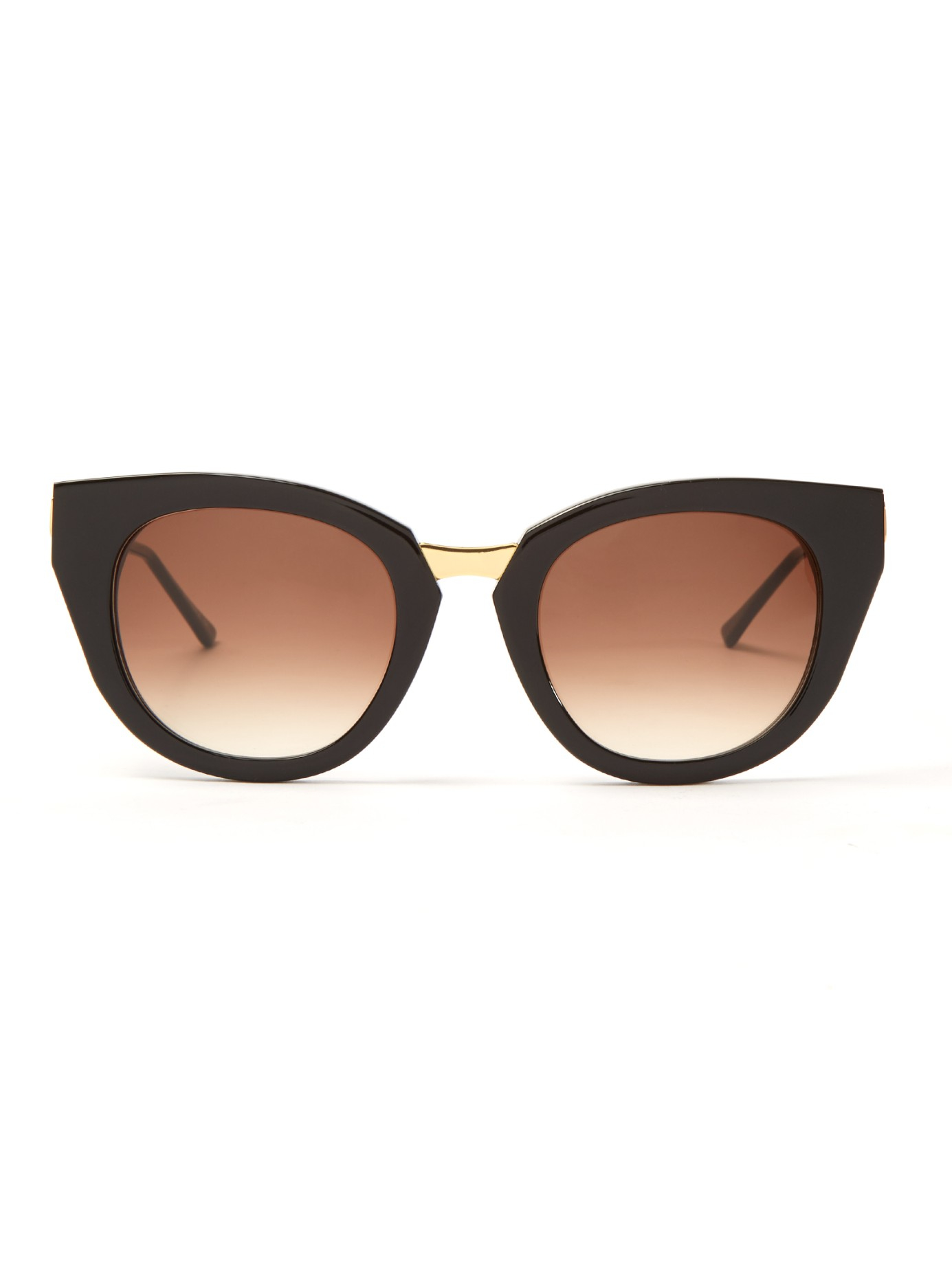 Thierry lasry Snobby Cat-eye Frame Sunglasses in Black Lyst