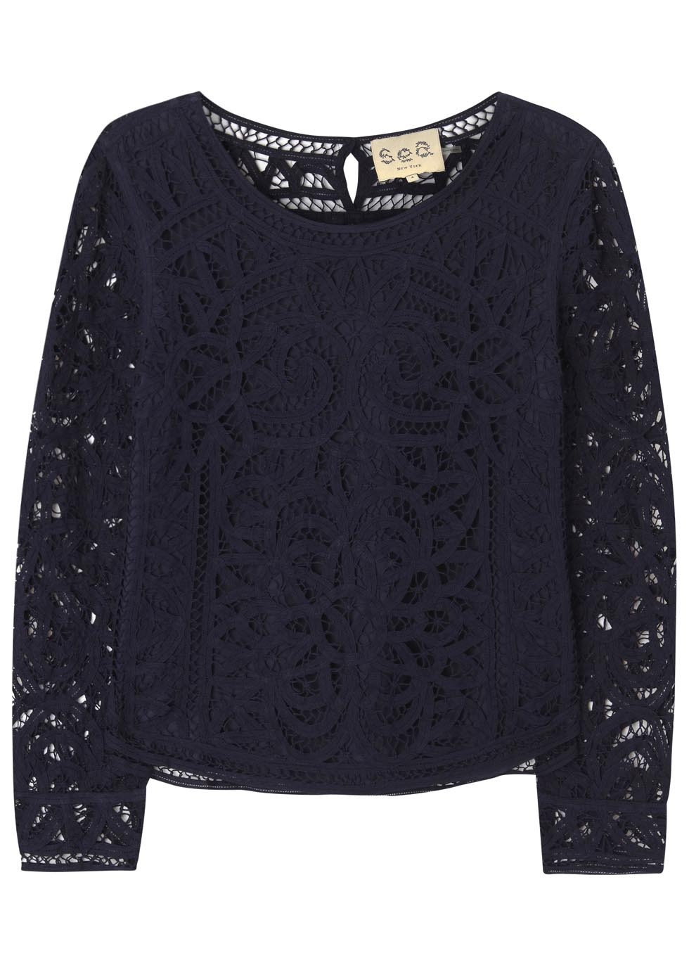 Sea Navy Lace Blouse In Blue Lyst
