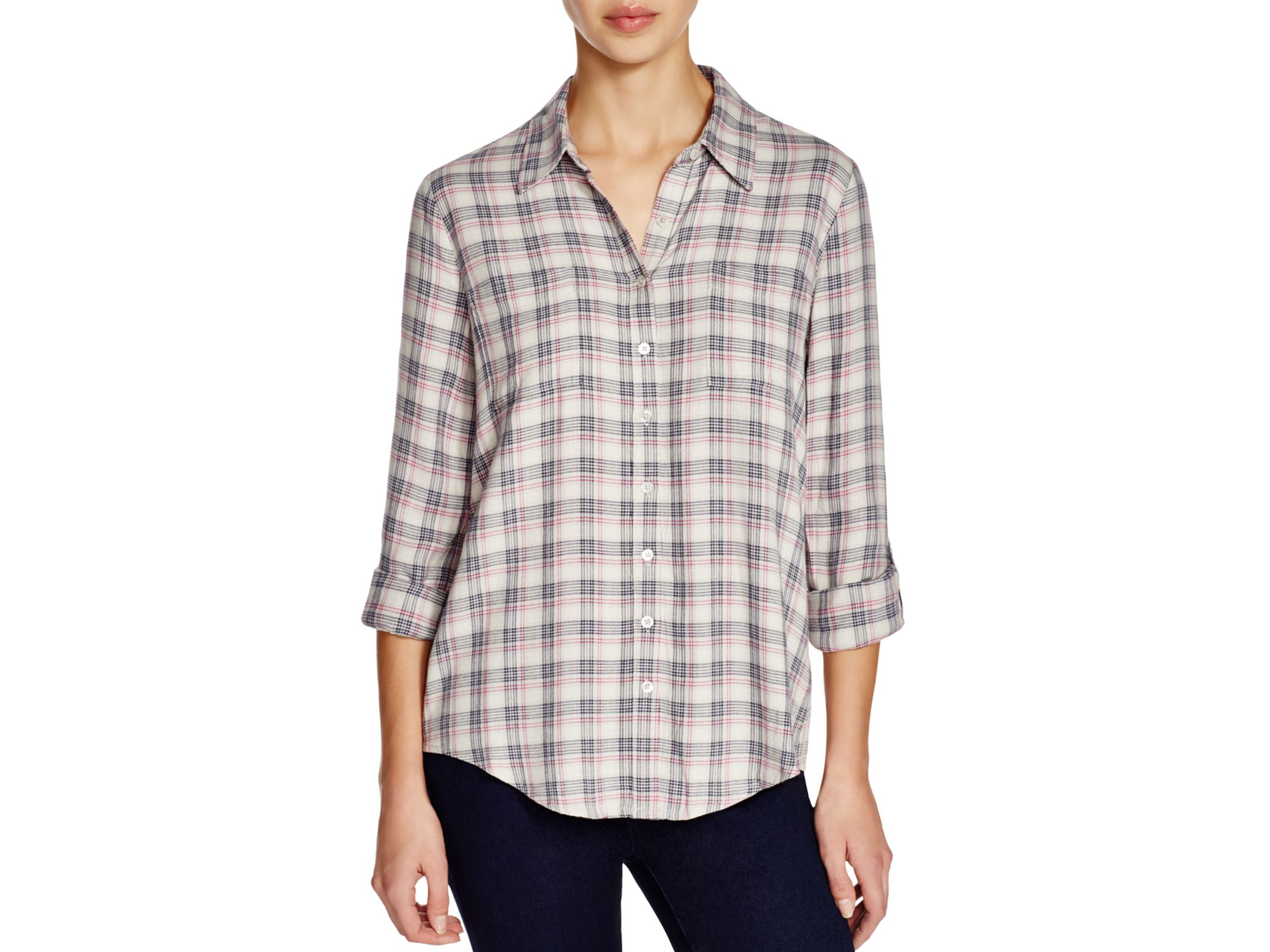 lyst soft joie eirene plaid shirt