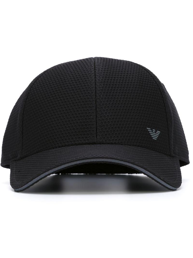 Lyst Emporio Armani Logo Baseball Cap In Black For Men