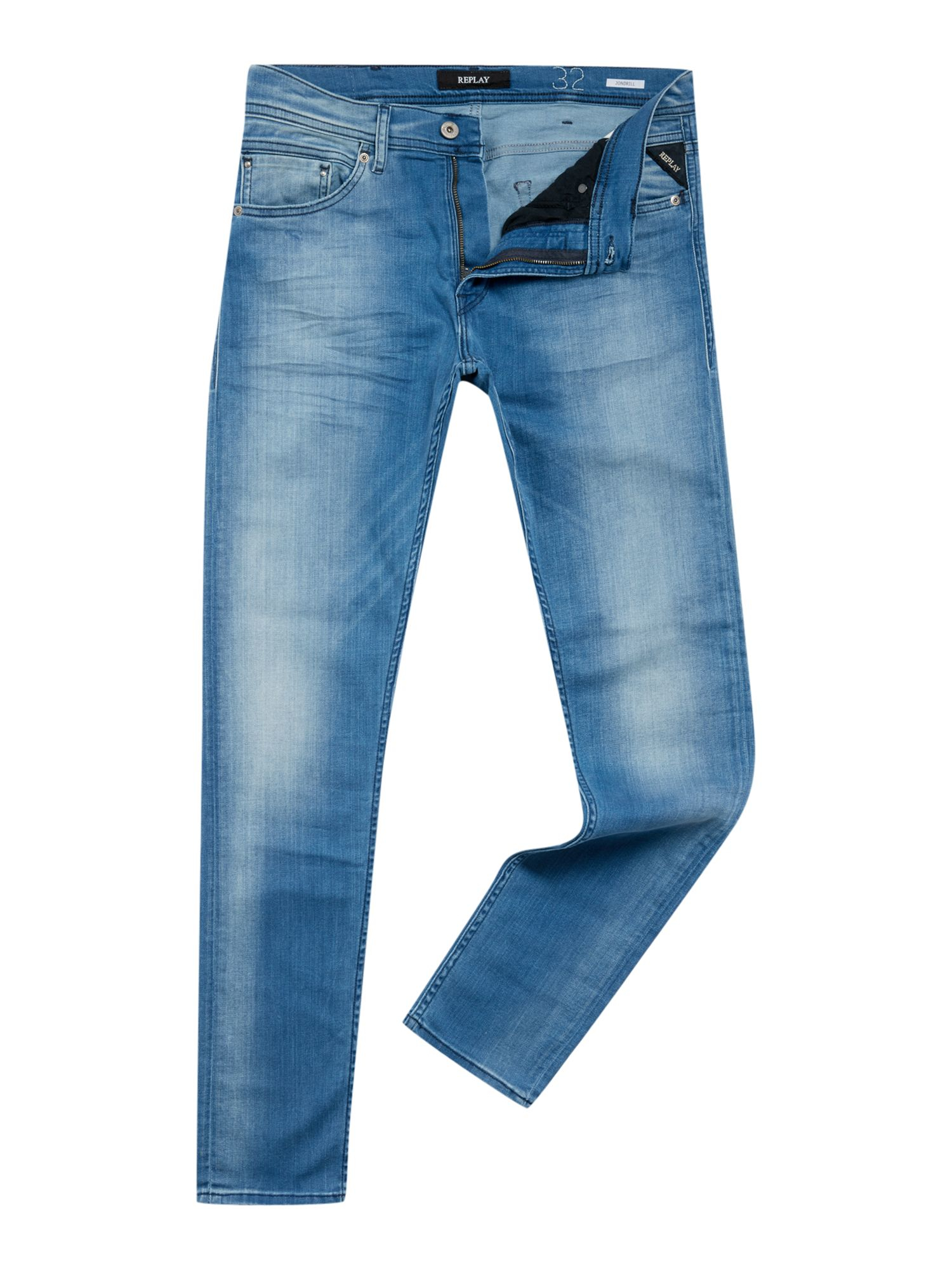 Replay Denim 99 Jondrill Skinny Fit Jeans in Blue for Men