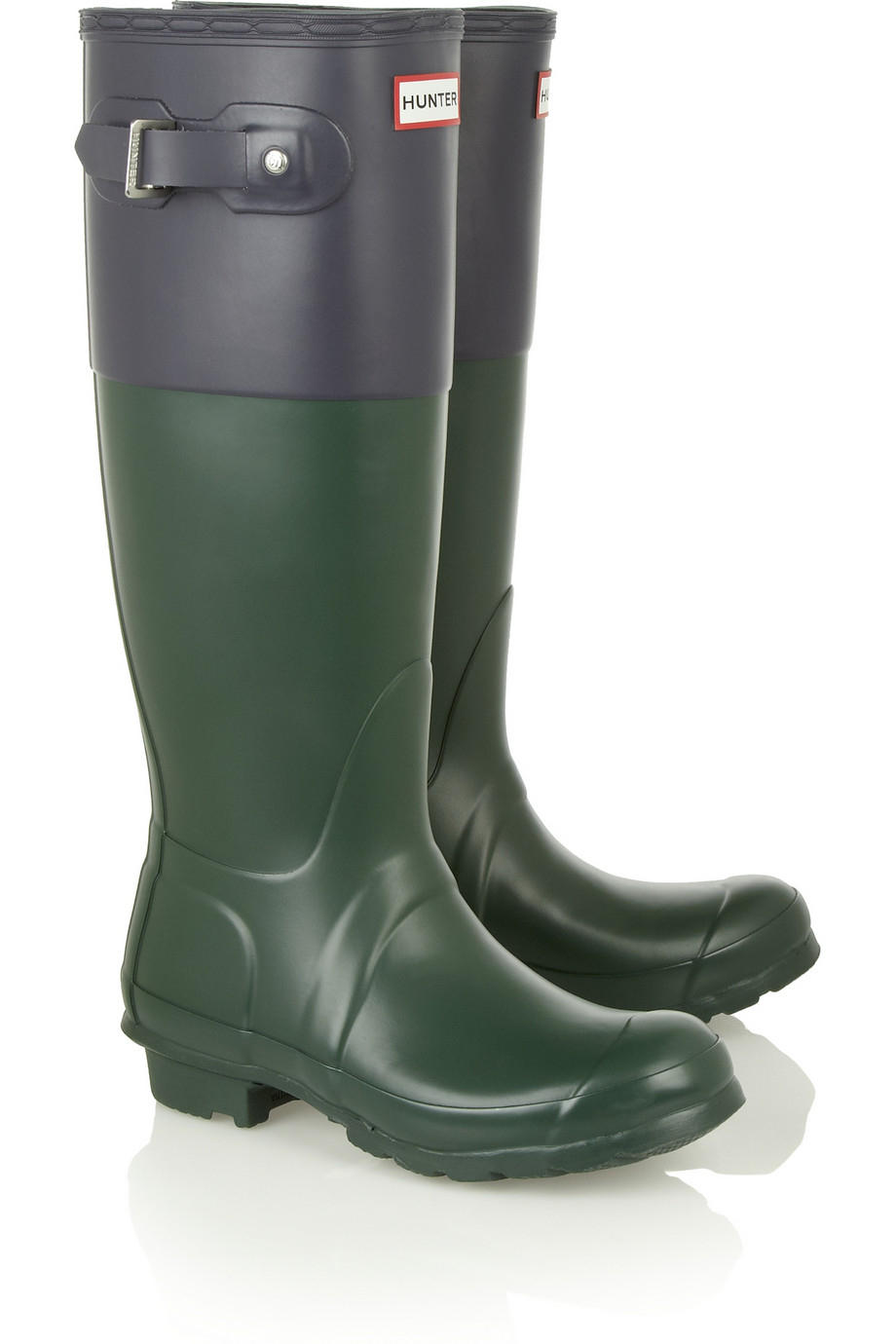 Hunter Original Tall Wellington Boots In Green Lyst