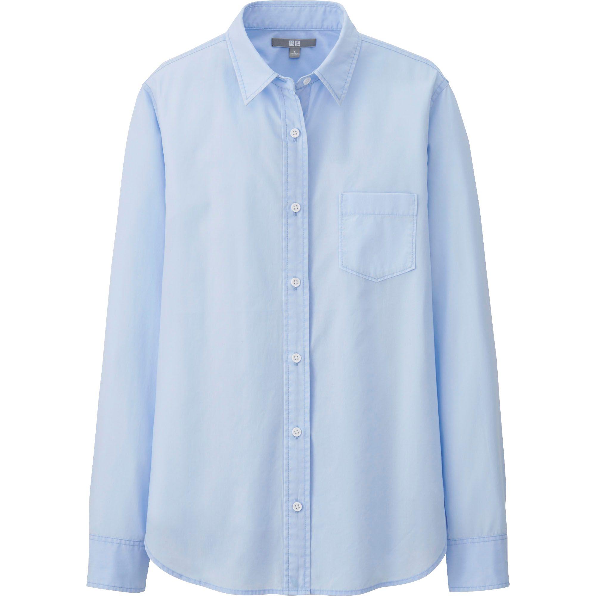 Uniqlo Women Extra Fine Cotton Broadcloth Long Sleeve