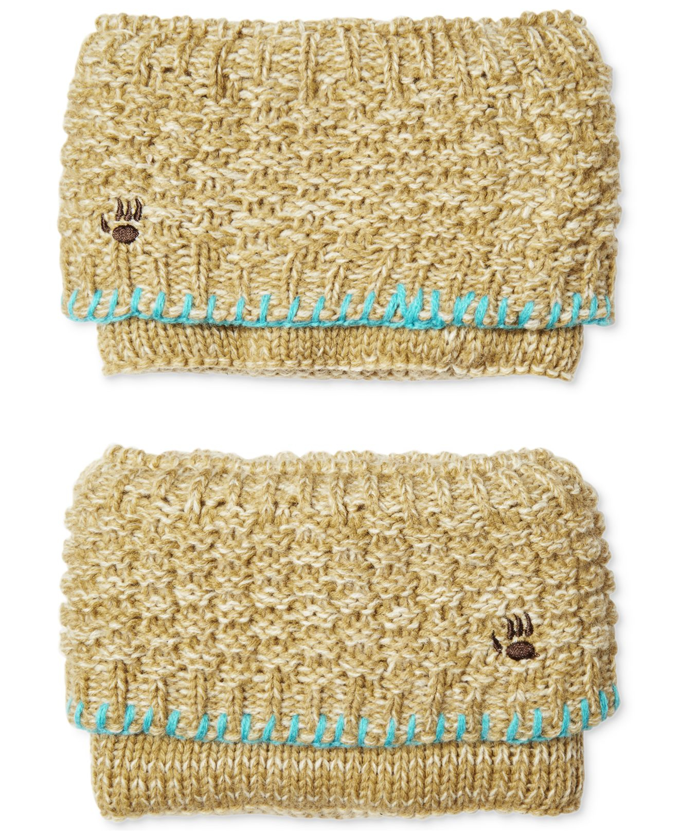 Bearpaw Sweater Knit Boot Cuffs In Brown