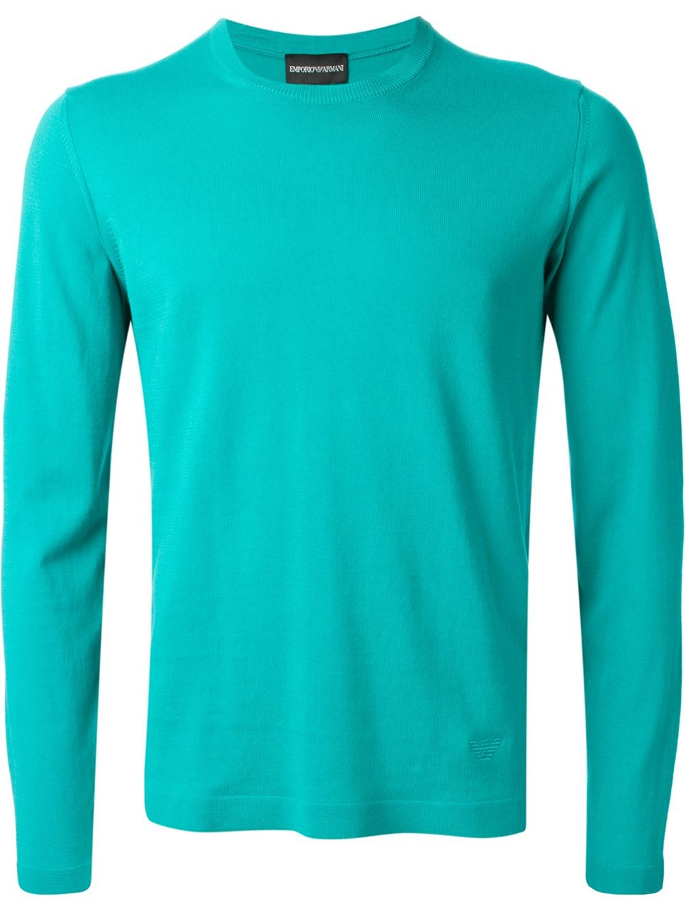 emporio armani fine knit sweater in green for men lyst. Black Bedroom Furniture Sets. Home Design Ideas