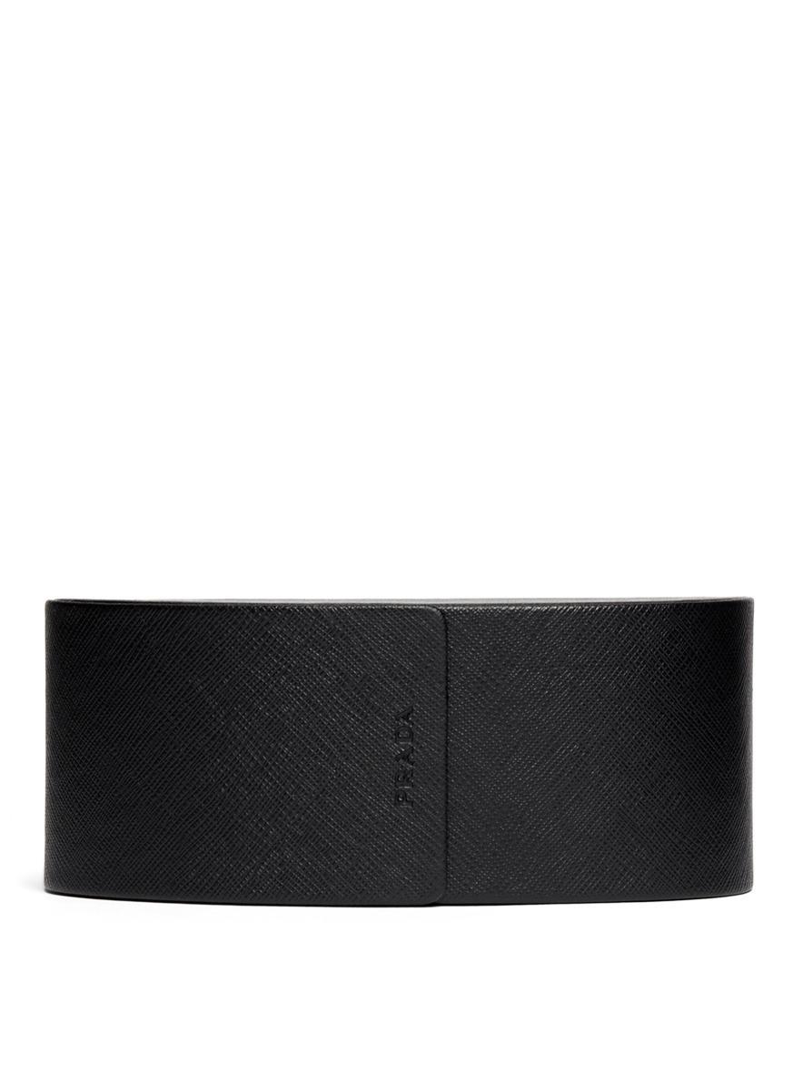 Prada Colourblock Acetate Angular Sunglasses in Grey (Grey)
