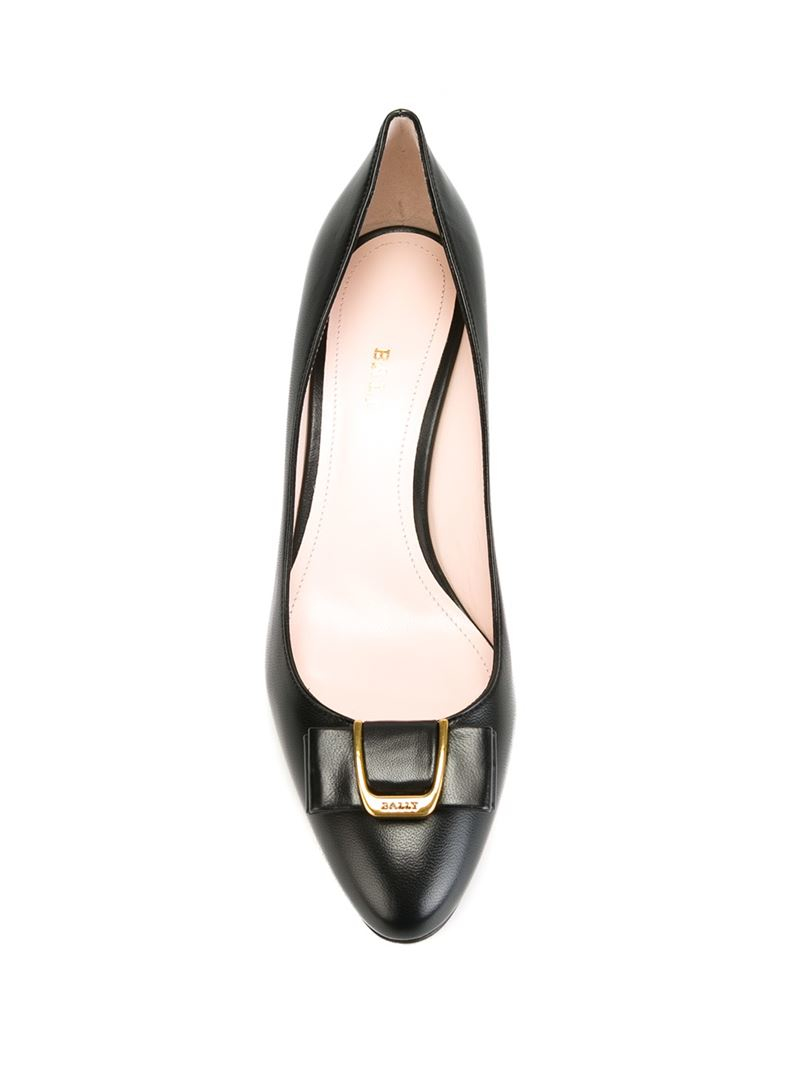 a639a5e1840f Lyst - Bally Bellyna Bow-Detailed Leather Pumps in Black