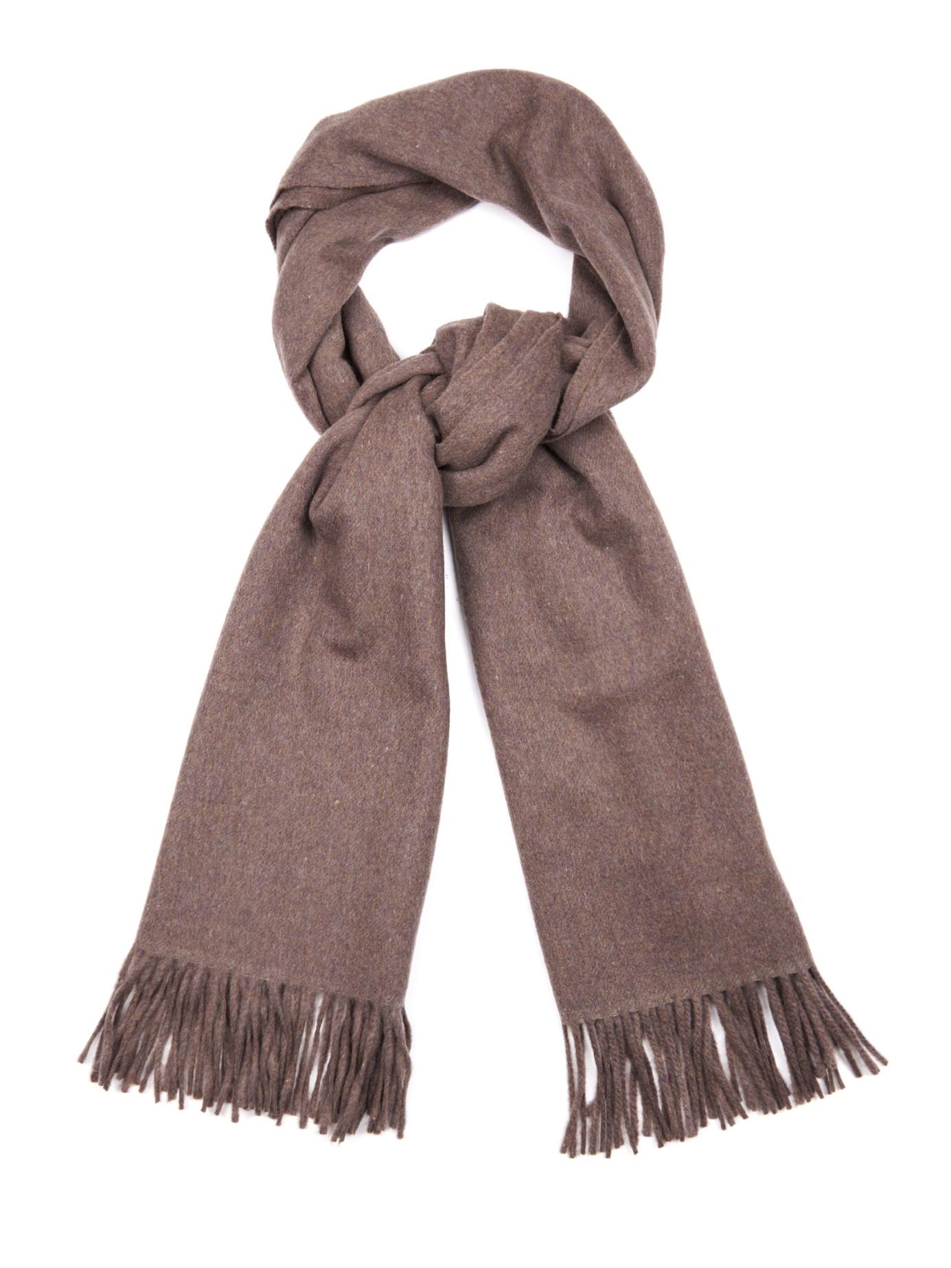 acne canada wool scarf in brown lyst