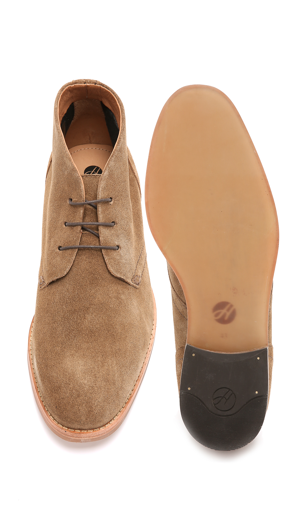 H by hudson Houghton 3 Suede Chukkas in Brown for Men | Lyst