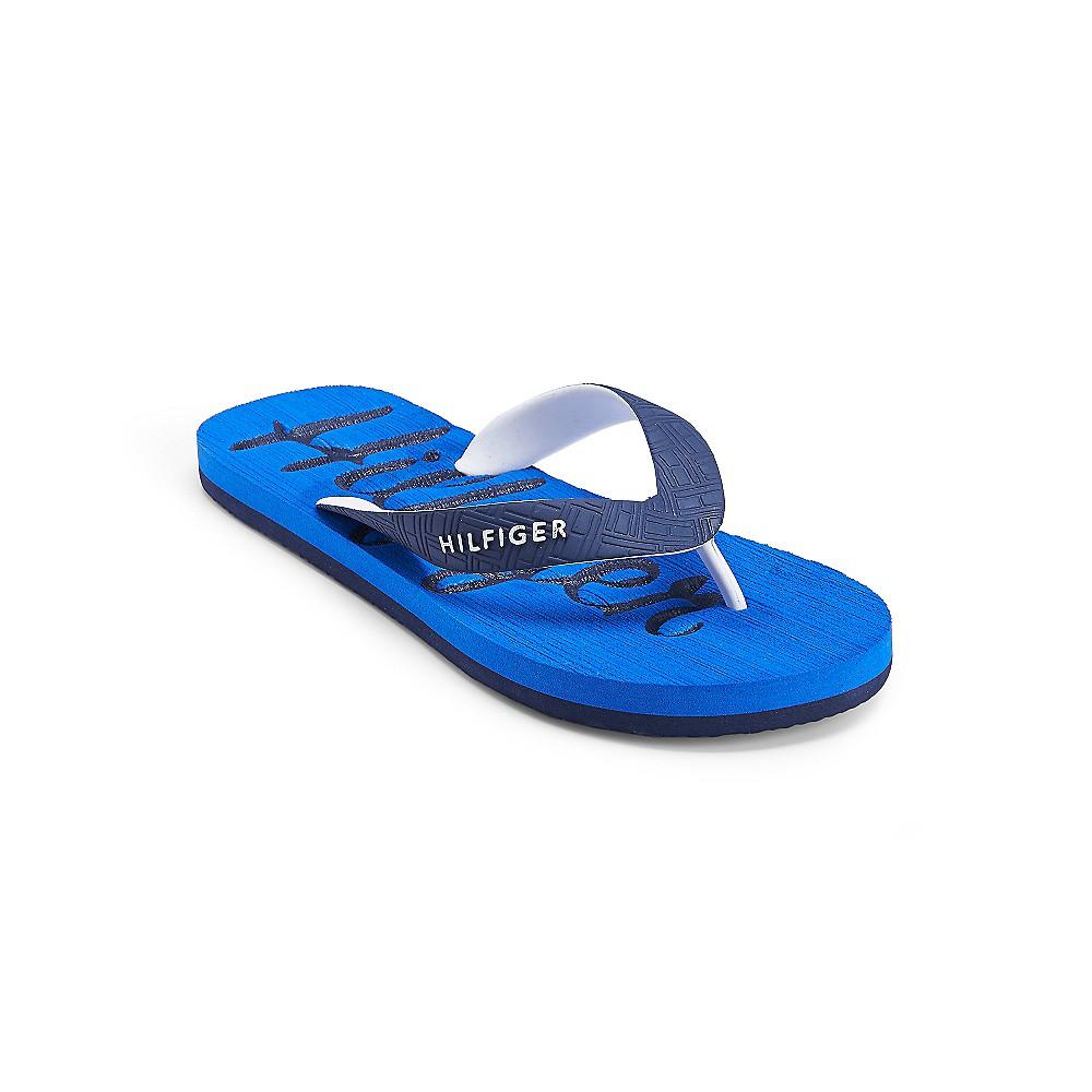 tommy hilfiger sport flip flop in blue for men french. Black Bedroom Furniture Sets. Home Design Ideas