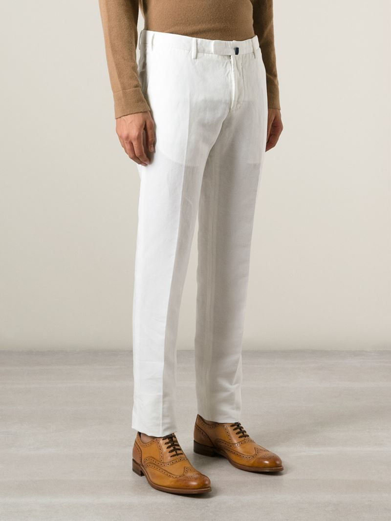 Chinos Slacks off-white Incotex jDEhTUx