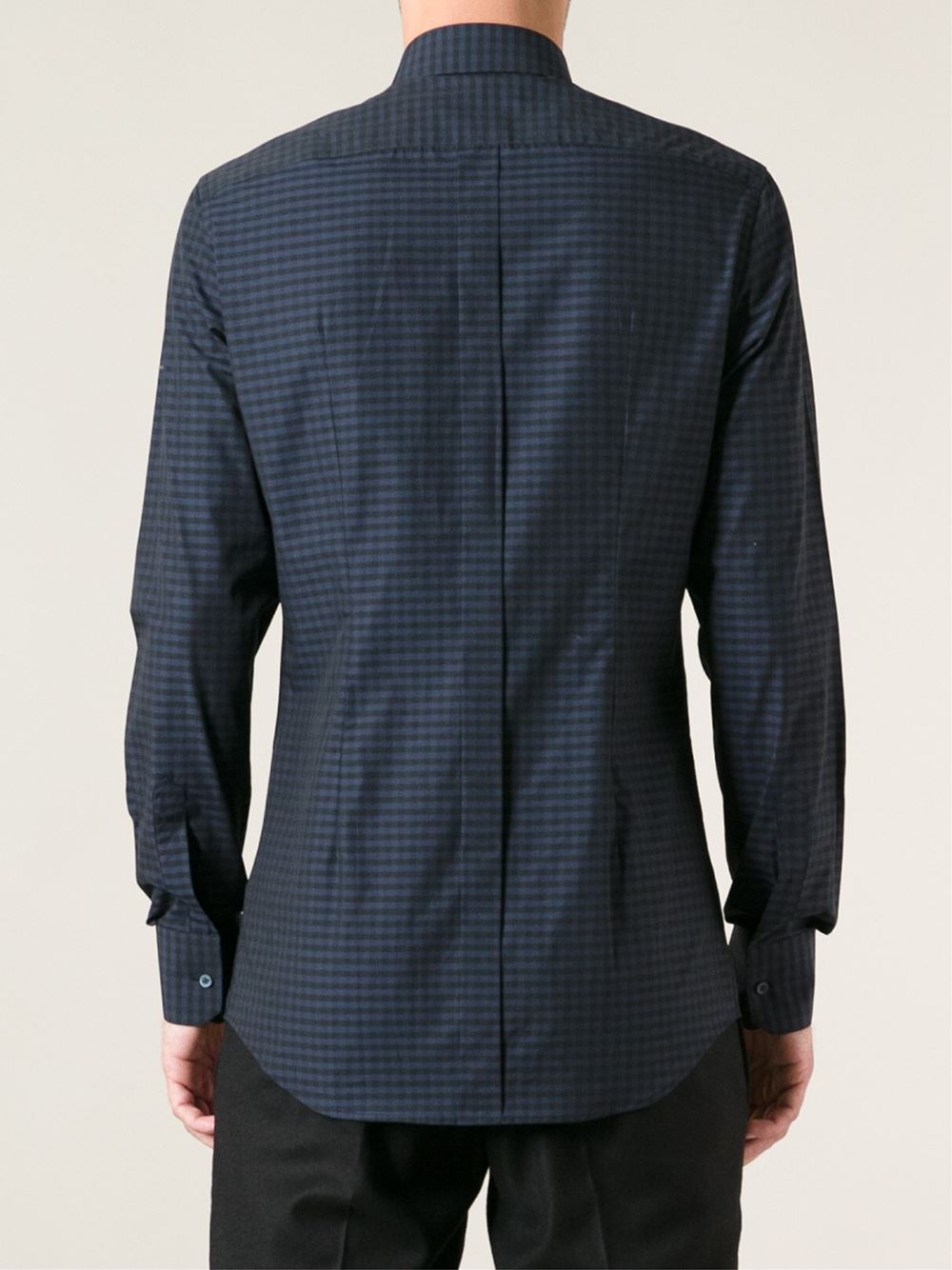 Dolce & Gabbana Checked Shirt in Black for Men