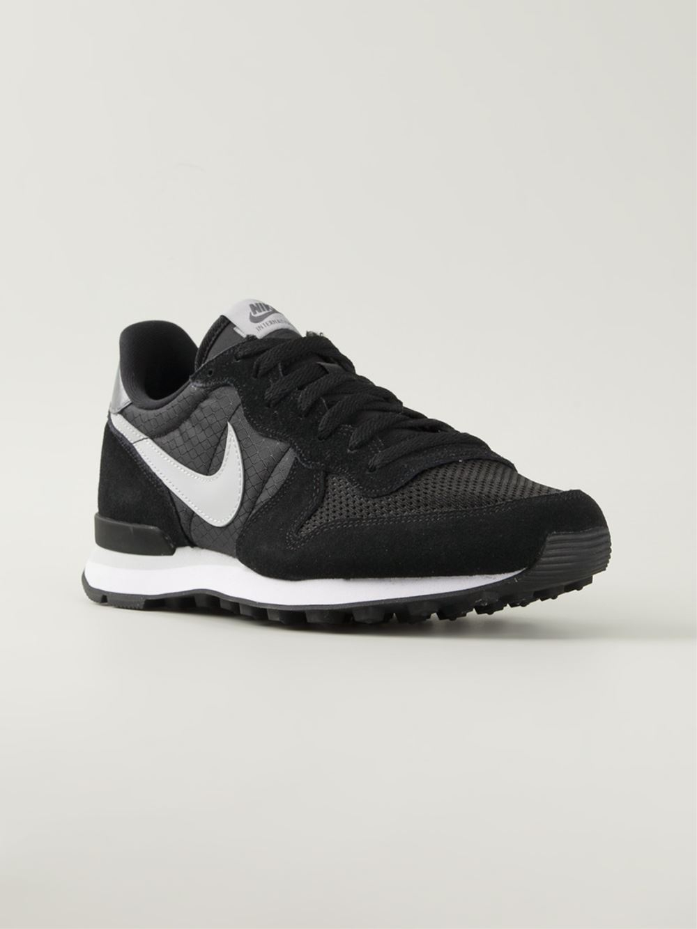 nike internationalist leather sneakers in black for men lyst. Black Bedroom Furniture Sets. Home Design Ideas