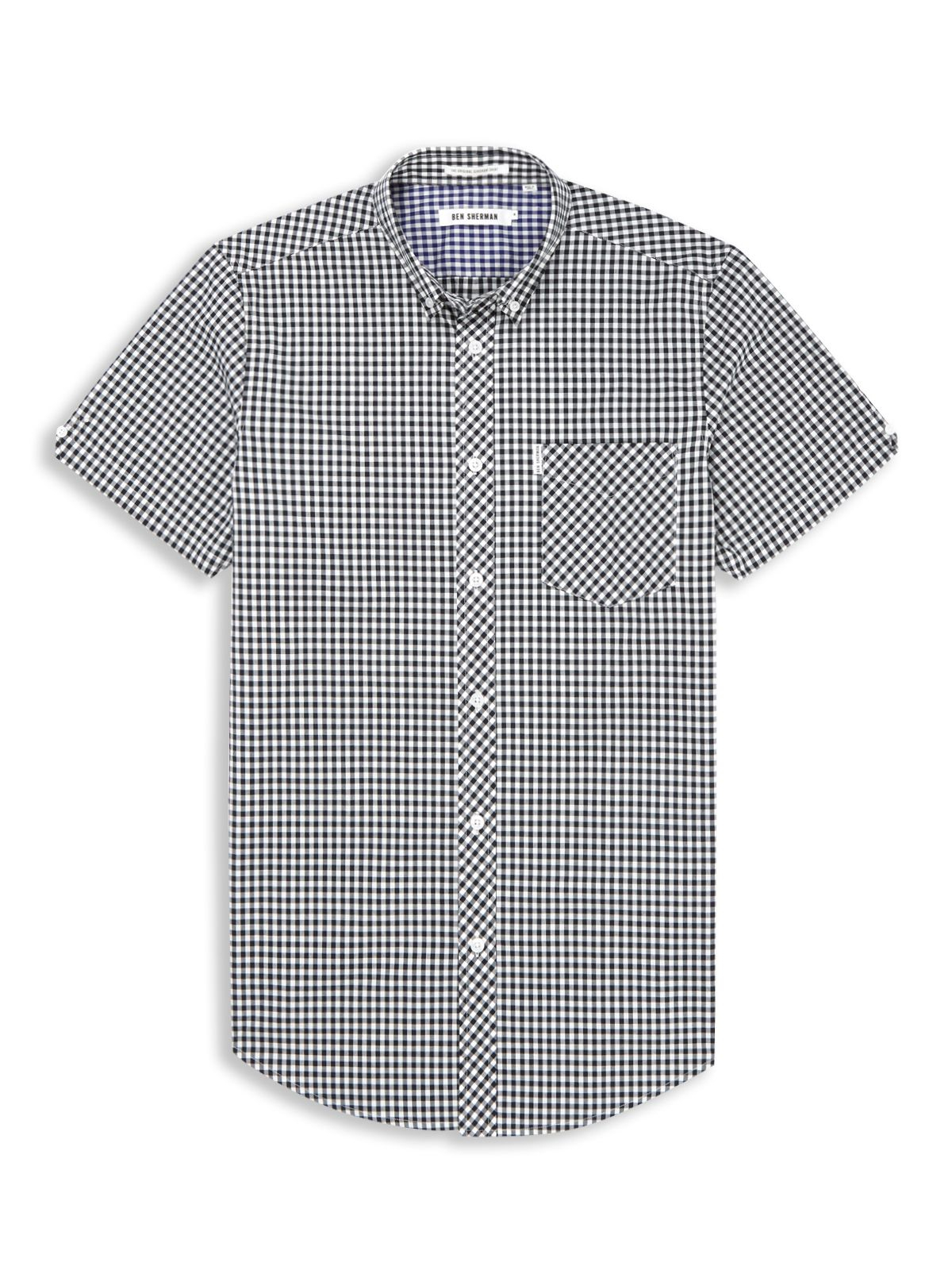 Ben Sherman Classic Gingham Check Short Sleeve Shirt In