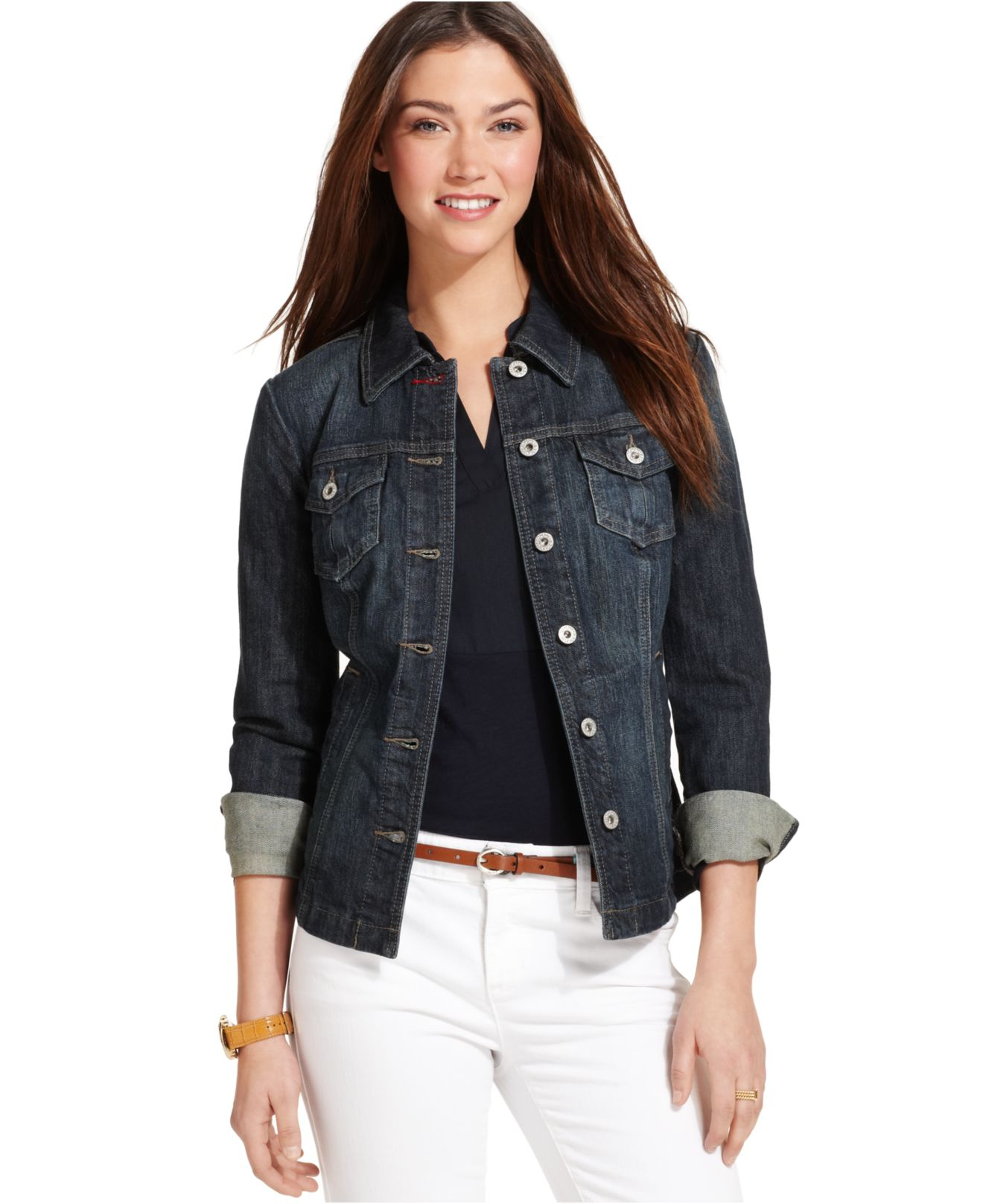 Tommy hilfiger Denim Jacket in Blue (Oily Worn Wash) | Lyst