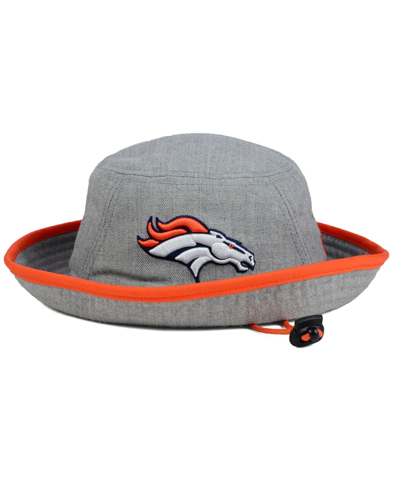 meet 97a3f 34eff ... orange new era footb 501ad 5ba19  italy coupon for lyst ktz denver  broncos nfl heather gray bucket hat in gray for men