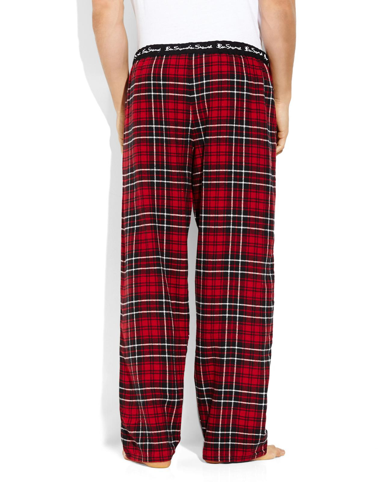 Ben sherman Red Flannel Pajama Pants in Red for Men | Lyst