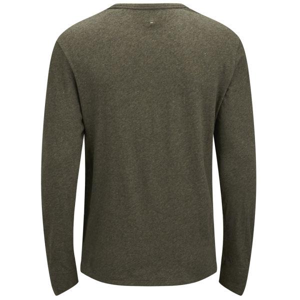 Rag Bone Tweed Long Sleeve Cotton T Shirt In Green For