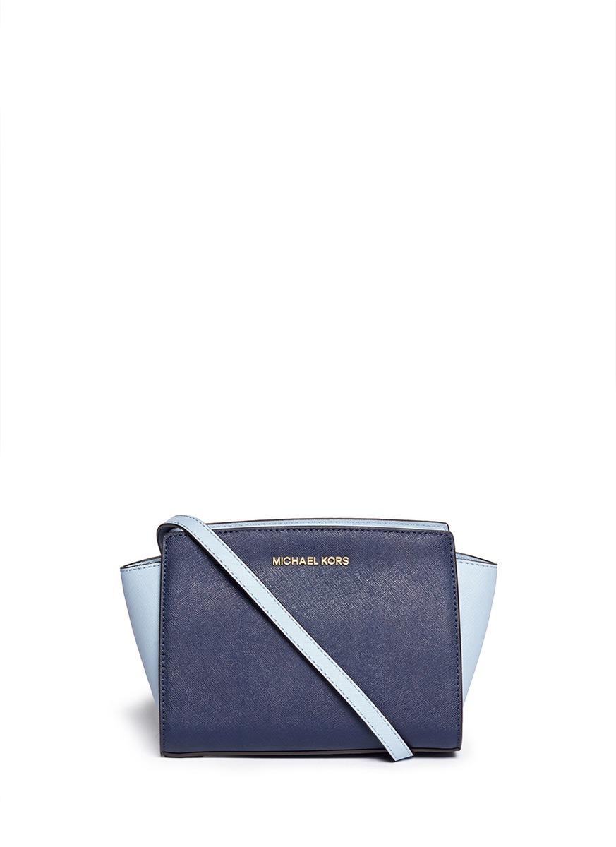 michael kors 39 selma 39 medium saffiano leather messenger bag. Black Bedroom Furniture Sets. Home Design Ideas