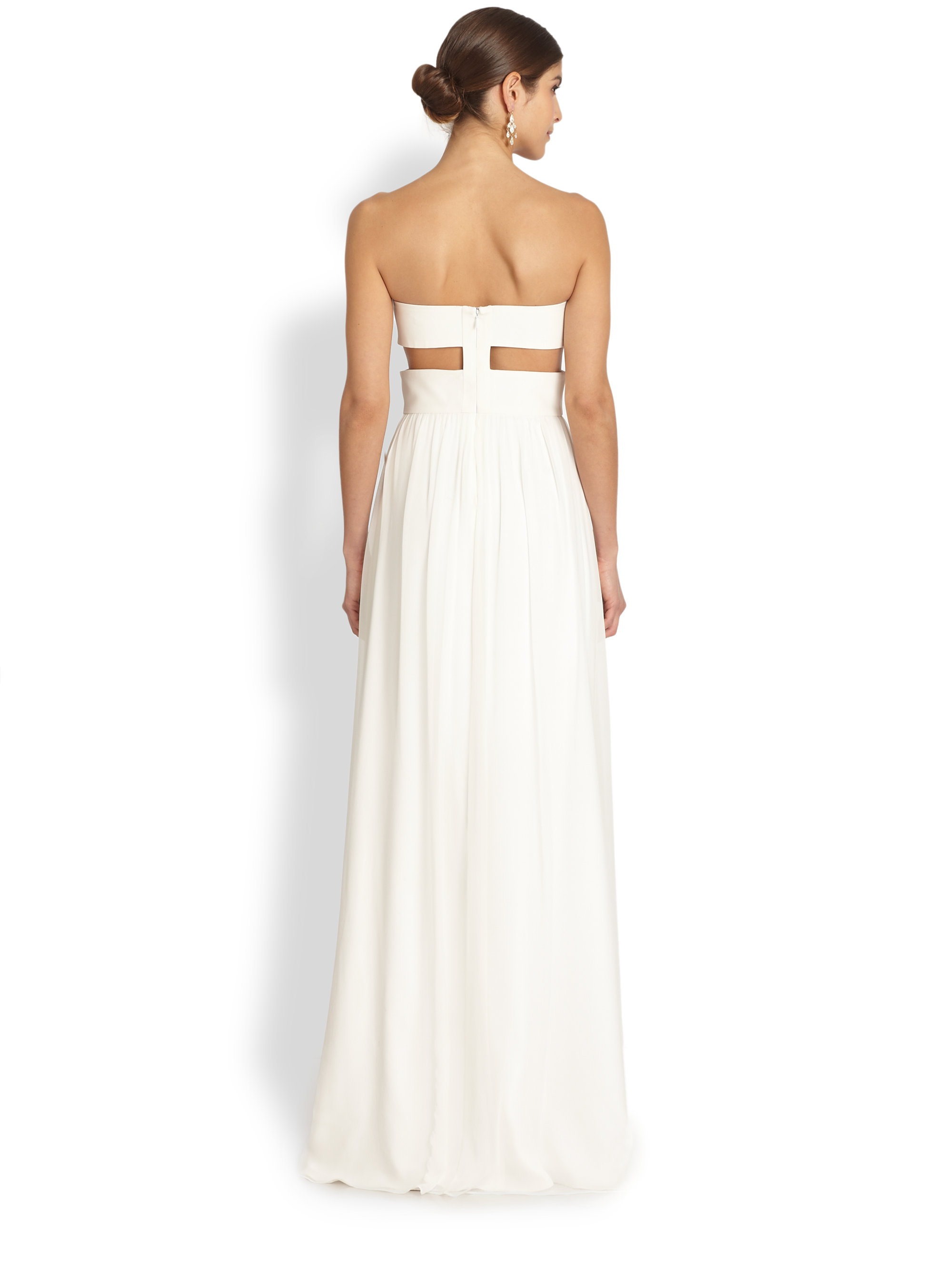 Lyst - Jay Godfrey Radel Strapless Cutout Gown in White