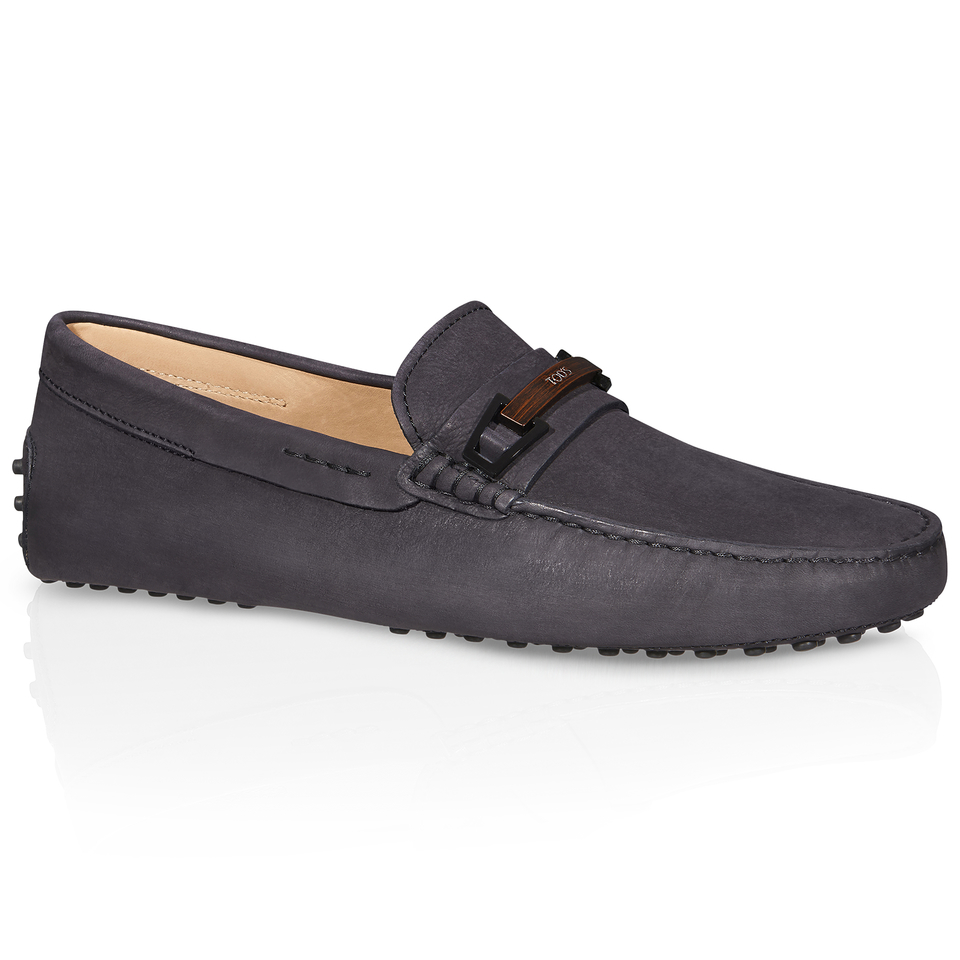 Tod's Gommino Driving Shoes In Nubuck in Black for Men (BLUE) | Lyst