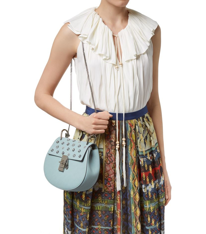 Chlo�� Small Drew Embellished Bag in Blue | Lyst