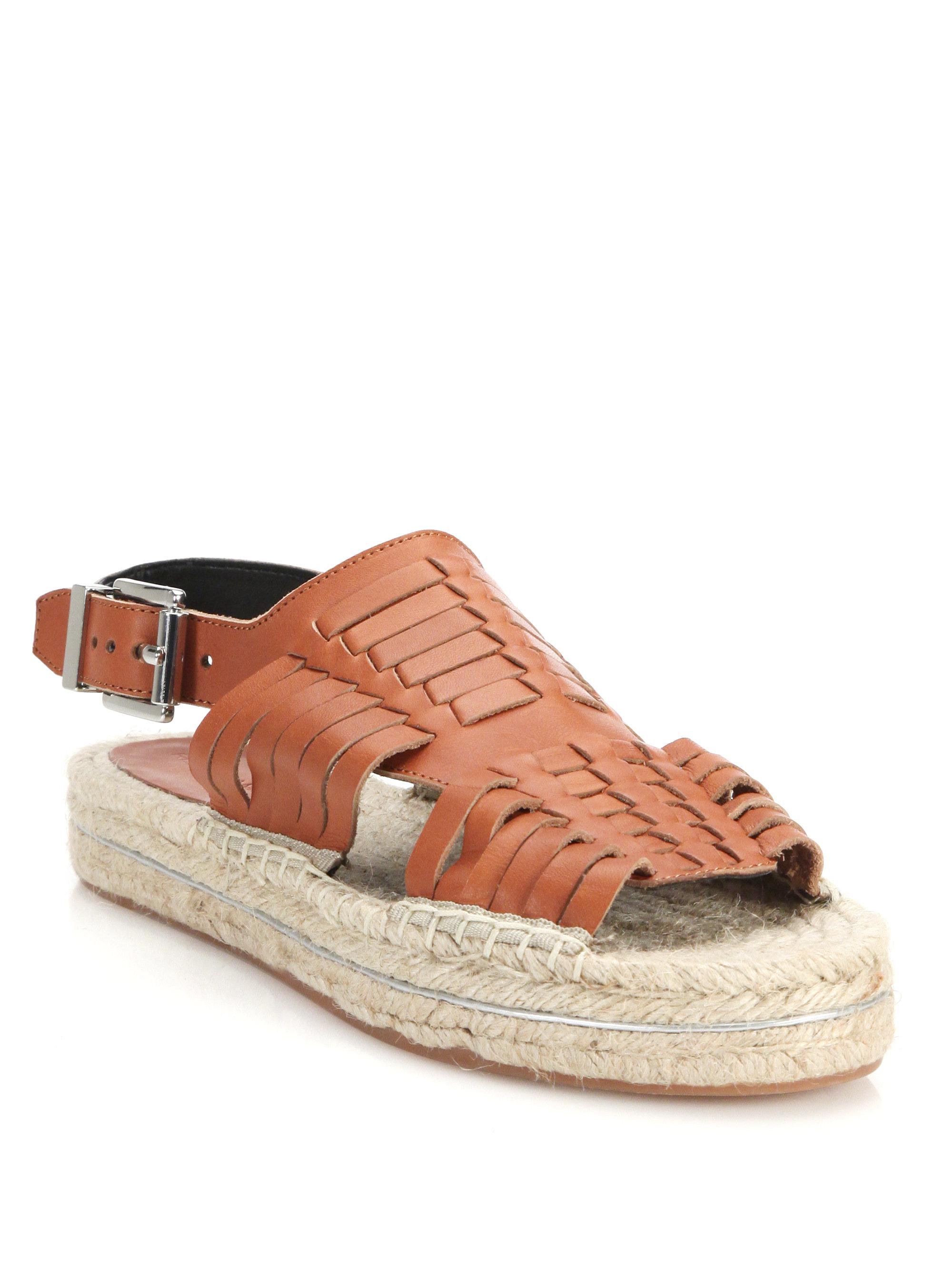 9fe0330511df Lyst - Rebecca Minkoff Gabriel Huarache Leather Espadrille Sandals ...