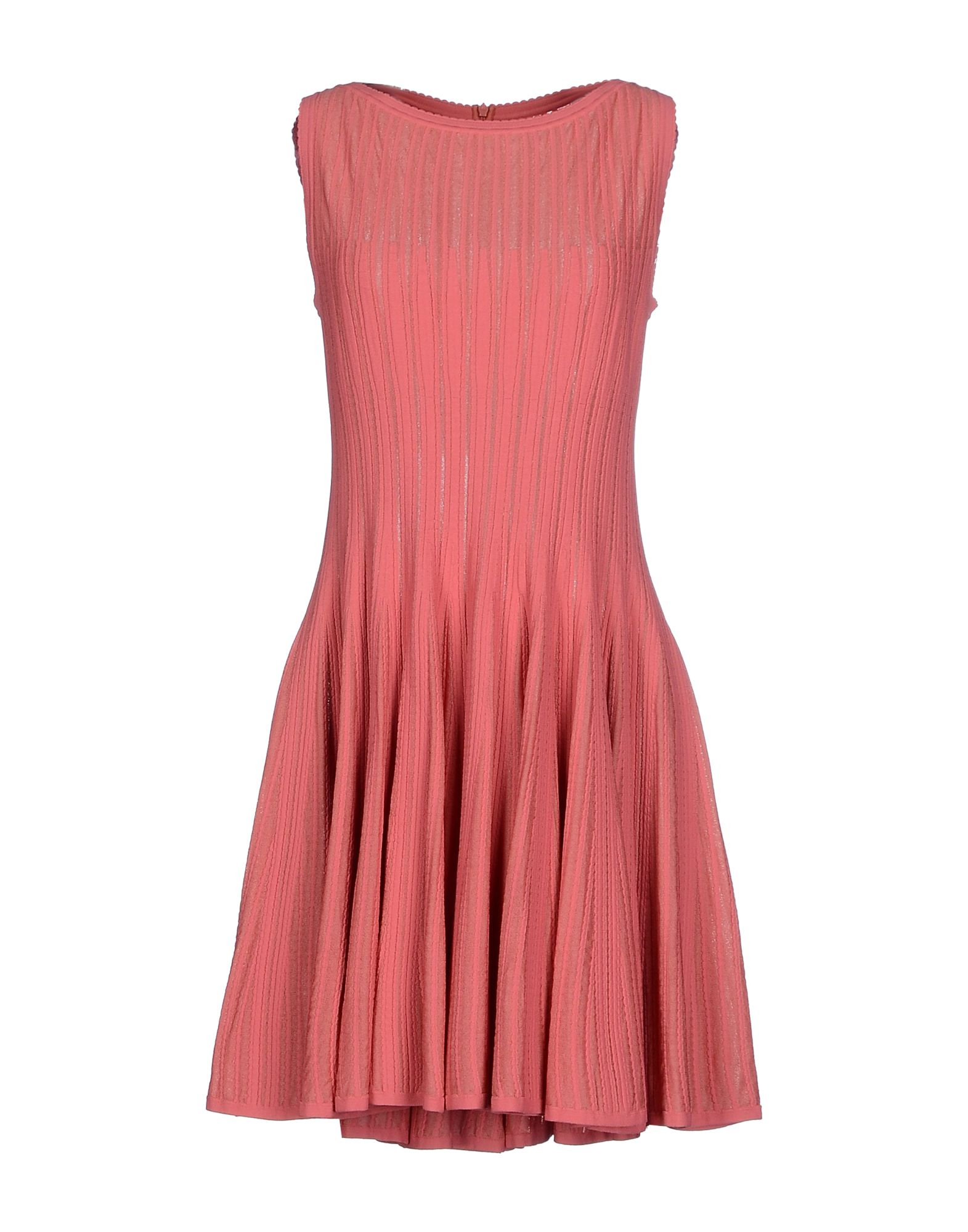 Ala a short dress in pink pastel pink lyst for Pastel pink dress shirt
