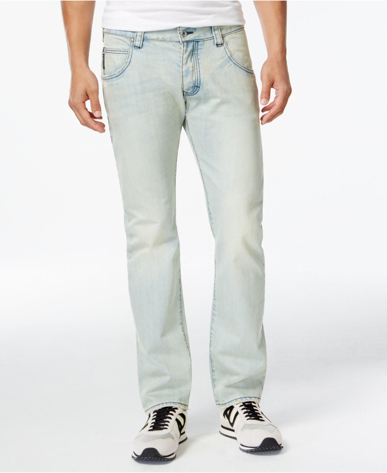 182afc76 Armani Jeans Blue Slim Straight Fit Light Wash Jeans for men