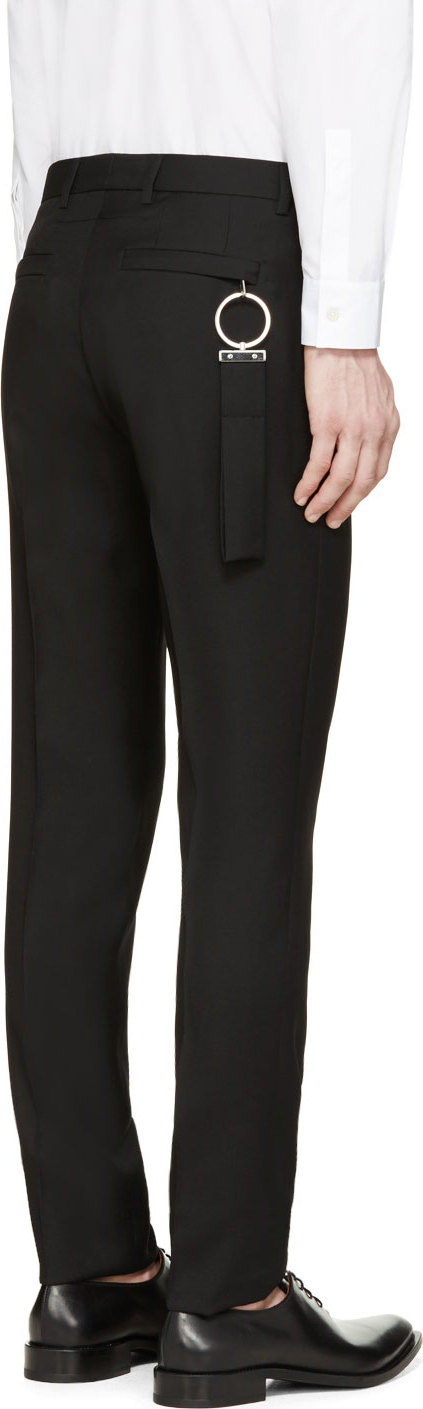 Givenchy Black Keyring Accent Trousers for Men