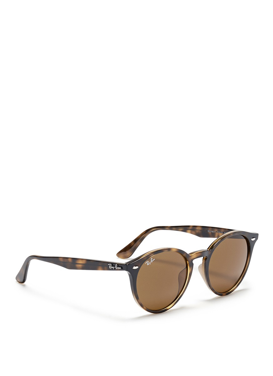 Ray Ban Round Tortoise S Sunglasses  ray ban rb2180 round frame tortoises acetate sunglasses in