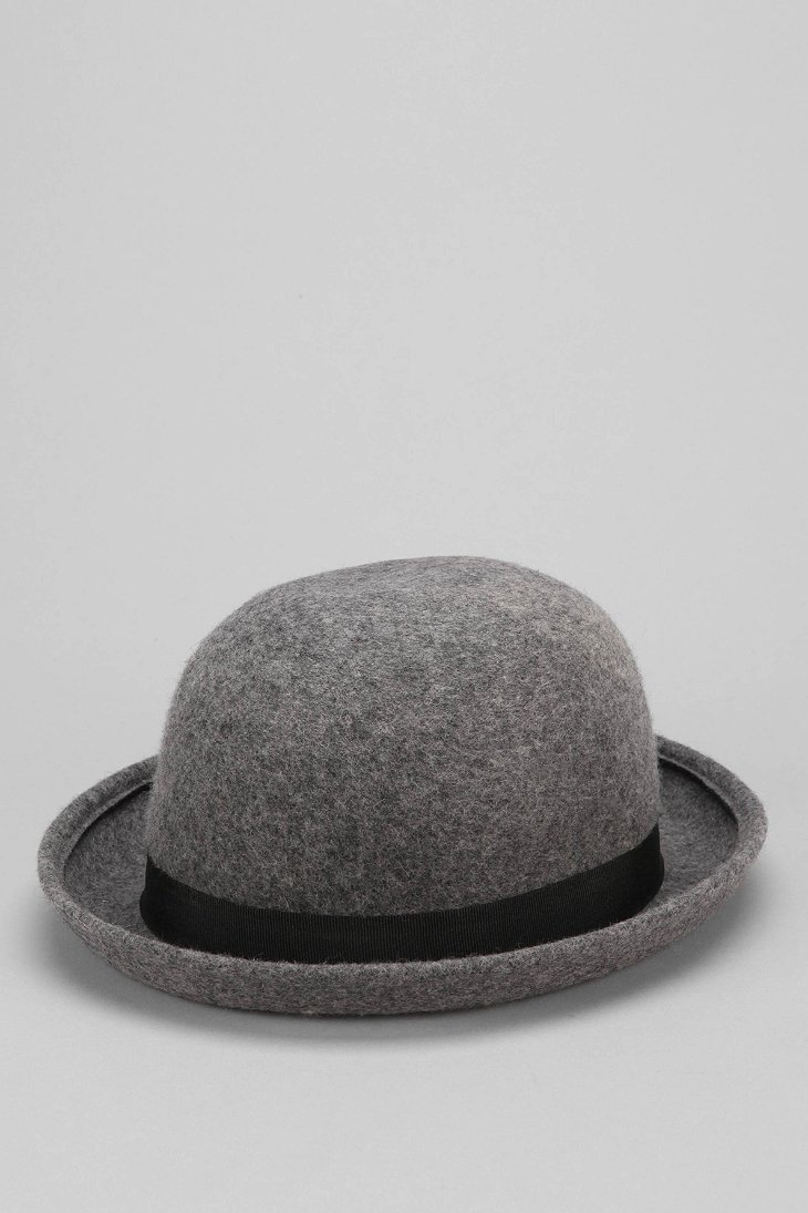 49e04ebcefd66 Urban Outfitters Felt Bowler Hat in Gray for Men - Lyst