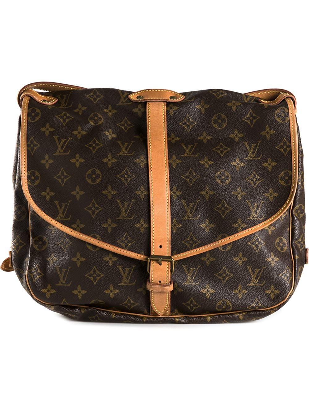 louis vuitton 39 saumur 35 39 shoulder bag in brown lyst. Black Bedroom Furniture Sets. Home Design Ideas