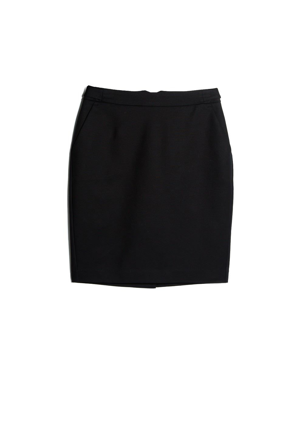 Black Cotton Skirt - Skirts